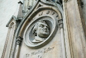 Relief Luther an der Marktkirche